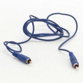 Propojovací kabel cinch modrý délka 150 cm