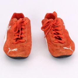 Dámské tenisky Puma odstín oranžové