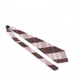 Pánská kravata Hedva odstín hnědé a růžové