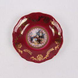 Dekorativní talířek Haas & Czjzek porcelán