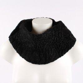 Dámský límec černý z umělé kožešiny
