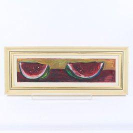 Obraz dvě čtvrtky melounů