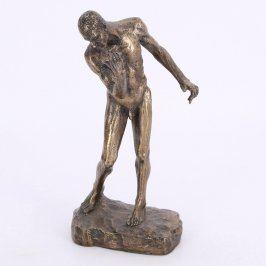 Soška nahého muže na podstavci 15 cm