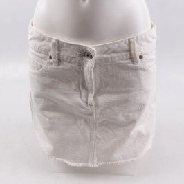 Dámská bavlněná sukně F&F bílá
