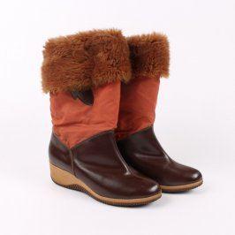 Dámské zimní boty s kožíškem