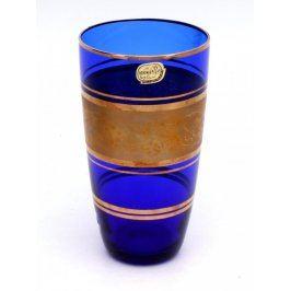 Dekorativní váza Bohemia modré sklo