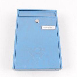 Kovová poštovní schránka modrá