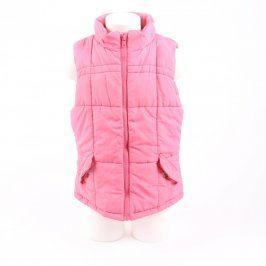 Dětská vesta Cherokee růžová bez kapuce