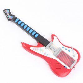 Elektrická kytara plastvá červená
