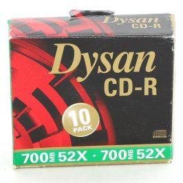 Obal na CD/DVD Dysan 10 ks