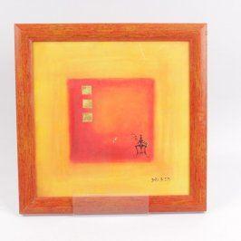 Obraz Dalia 03 žluto červené čtverce