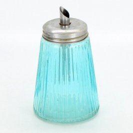 Cukřenka s dávkovačem modrá