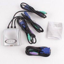 4-portový Auto KVM switch