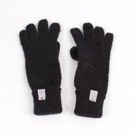 Dámské rukavice prstové pletené černé