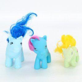 Sada poníků modré a zelené barvy 3 ks