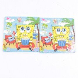 Dřevěné puzzle SpongeBob - 2 kusy