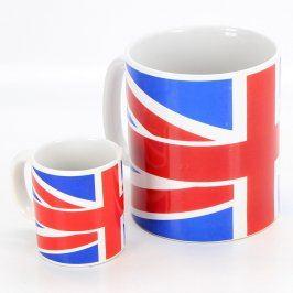 Hrnky Nana v barvách britské vlajky