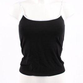 Dámská košilka Gina černá s bílým lemem