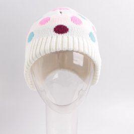 Dívčí čepice H&M bílá s puntíčky