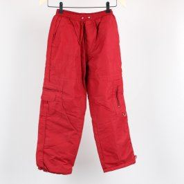 Dívčí oteplováky odstín červené
