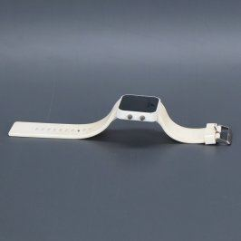 Silikonové digitální hodinky Adidas bílé