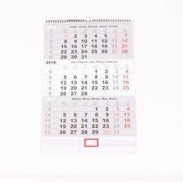 Nástěnný kalendář 3 měsíční 2018