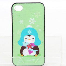 Zadní kryt pro iPhone 4/4S zelený s tučňákem