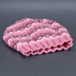Dětská čepice Reverse růžové barvy