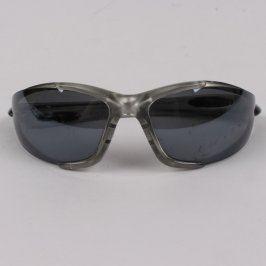 Cyklistické brýle stříbrné s černými skly