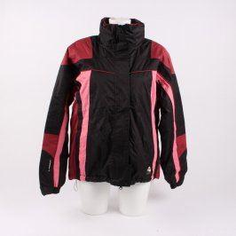 Lyžařská bunda Loap černá s prvky růžové
