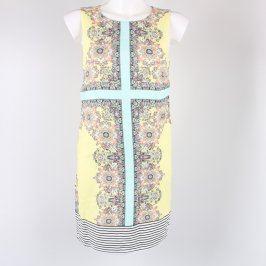 Dámské šaty Promod žluté s květinami