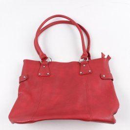 Dámská kabelka kožená červené barvy