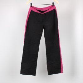 Dívčí tepláky TU černo růžové