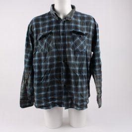 Pánská košile TOM flanelová černo modrá