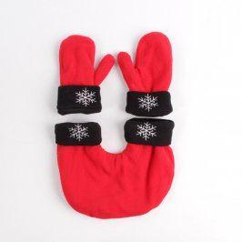 Zimní rukavice a rukávník červený set