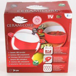 Hrnec Ceramicore červené barvy