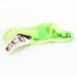 Šátek do vlasů zelené barvy