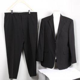 Pánský oblek Biaggini černý s proužky