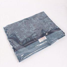 Šátek Cashmere černo-modré barvy