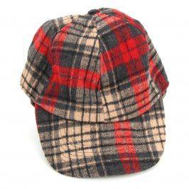 Dětská kostkovaná čepice s kšiltem