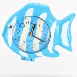 Dětské hodiny ve tvaru ryby modré