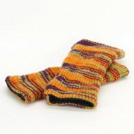 Návleky na nohy pletené barevné