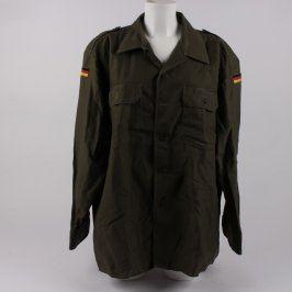 Pánská košile vojenská zelená s vlajkami