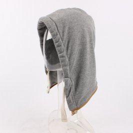 Kapuce na zip šedé barvy