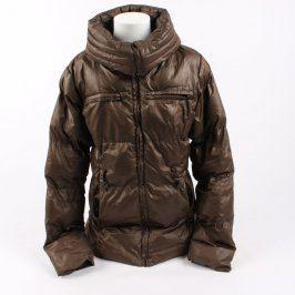Dívčí bunda hnědé barvy