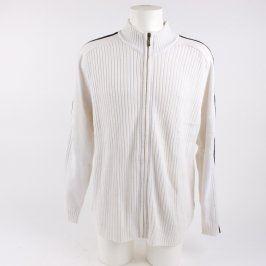 Pánský svetr Man´s World smetanový na zip
