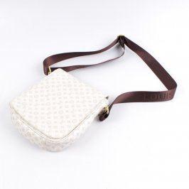 Dámská kabelka s motivem LV bílé barvy
