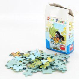 Dětské puzzle DINO Krteček s rybou