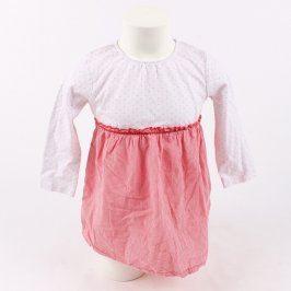 Dětské šaty bílo-červené barvy