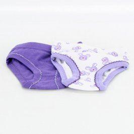 Dětské kalhotky bílé a fialové barvy